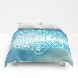 Blue Sky Mandala Comforters