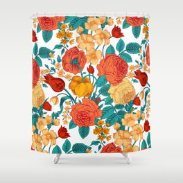 Vintage flower garden Shower Curtain