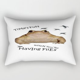 Time's Fun When You're Having Flies Rectangular Pillow
