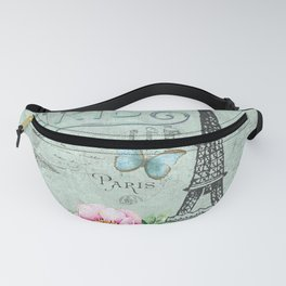 Paris - my love - France Eiffeltower Nostalgy - French Vintage Fanny Pack