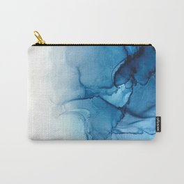 Blue Tides - Alcohol Ink Painting Carry-All Pouch