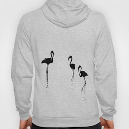 We Are The Three Flamingos Silhouette In Black Hoody