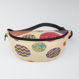 Circles Multicolor Fanny Pack