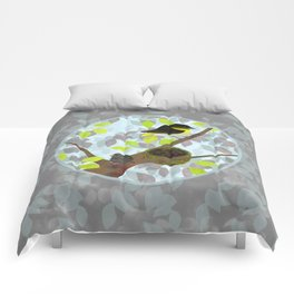 Nesting Goldfinches Comforters