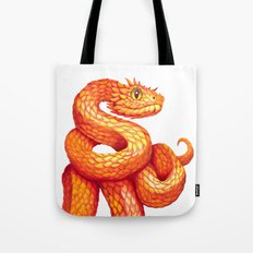Golden eyelash viper Tote Bag