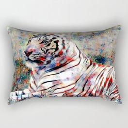 vibrant tiger Rectangular Pillow
