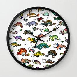 shrimp shrimp shrimp (color) Wall Clock