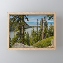 Inspiration Point, Emerald Bay, Lake Tahoe Framed Mini Art Print