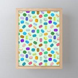 Macaron Pattern (Mint BG) Framed Mini Art Print