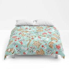 Gingerbread Dreams - Aqua Comforters