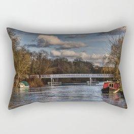 Below The Weir at Pangbourne Rectangular Pillow