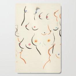 Breasts in Cream Cutting Board