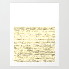 Riverside Gold Art Print