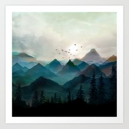 Mountain Sunrise II Art Print