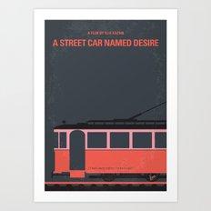 No397 My street car named desire minimal movie poster Art Print