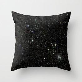 Space - Stars - Starry Night - Black - Universe - Deep Space Throw Pillow