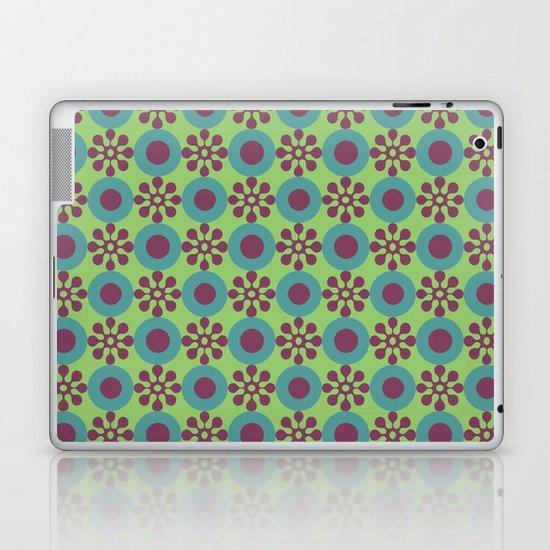 Retro Modern Flower Power Laptop & iPad Skin