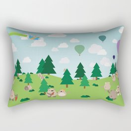 Bear Party Rectangular Pillow