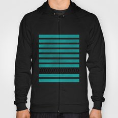 TEAL STRIPES AND ARROWS Hoody
