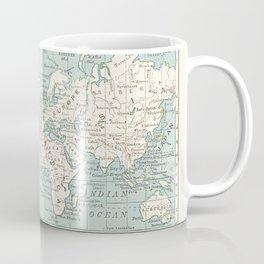 World Map in Blue and Cream Coffee Mug