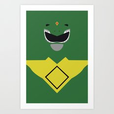 Power Rangers - Green Ranger Minimalist Art Print