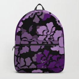 Flower pattern Design - violet black #flowers #sochiety6 Backpack