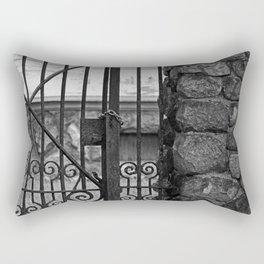 Old West End Edward D Libbey House's Gate Rectangular Pillow