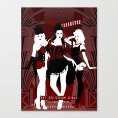 Red Steam Cabaretto Canvas Print