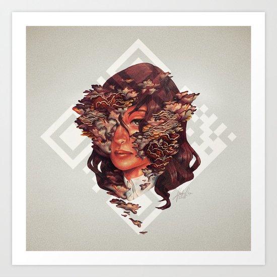 Medusoid mycelium Art Print