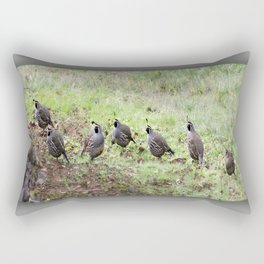Sunday Afternoon Quail  Rectangular Pillow