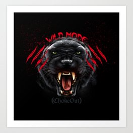 Wild Mode. Bjj, Mma, grappling Art Print
