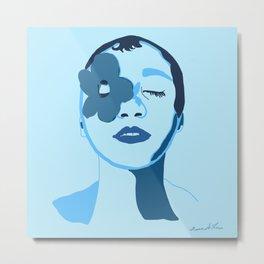 Blue,  Flower  Metal Print