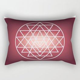 Sacred Geometry Triangle Rectangular Pillow