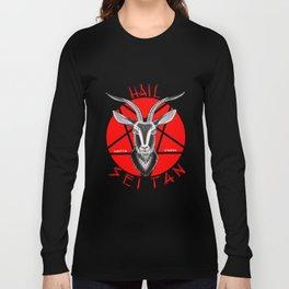 Hail seitan // vegan // baphomet Long Sleeve T-shirt