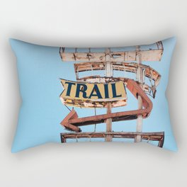 Vintage Neon Sign - The Spanish Trail -  Tucson Rectangular Pillow