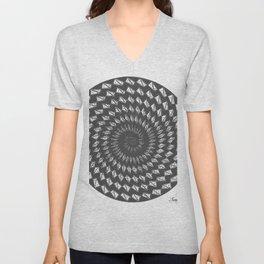 spiral 6 Unisex V-Neck