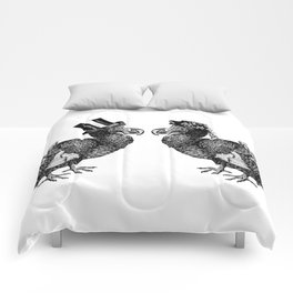 Mr and Mrs Dodo   Black and White Comforters