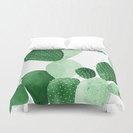 Green Paddle Cactus II Duvet Cover