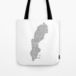Cities in Sweden - white Tote Bag
