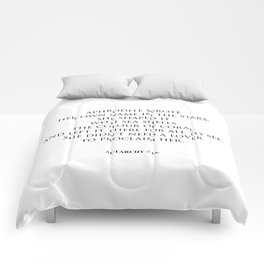 AUTARCHY (White Background) Comforters