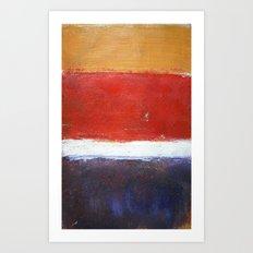 Mark Rothko Interpretation Acrylics On Paper Art Print