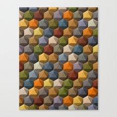 icosahedron multicolor Canvas Print