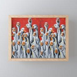 A Giggle Gaggle of Geese Framed Mini Art Print