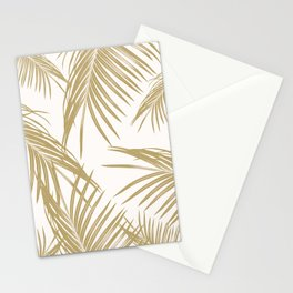 Gold Palm Leaves Dream #1 #tropical #decor #art #society6 Stationery Cards