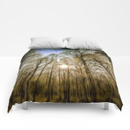 The Forest Sunset Art Comforters