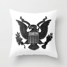 E PLURIBUS UNUM B/W Throw Pillow