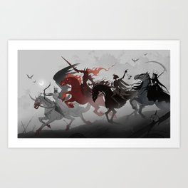 Four Horsemen of the Apocalypse Art Print