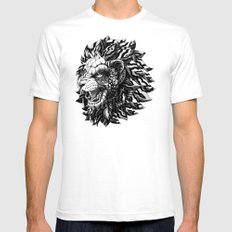Lion Mens Fitted Tee White LARGE