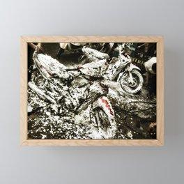Foamy Motos Framed Mini Art Print