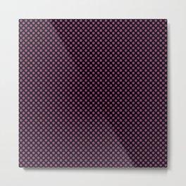 Black and Sugar Plum Polka Dots Metal Print